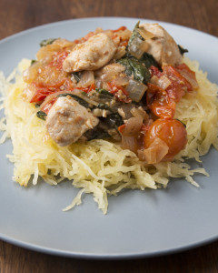 lemon chick and spaghetti squash